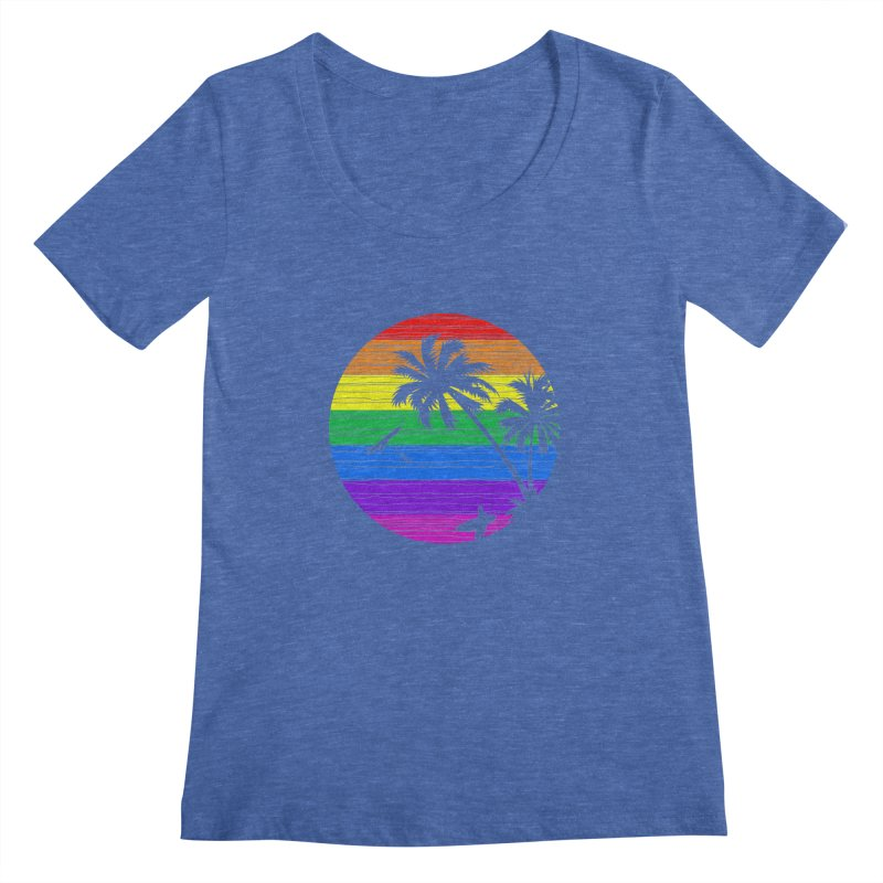 Rainbow Summer Women's Scoopneck by clingcling's Artist Shop