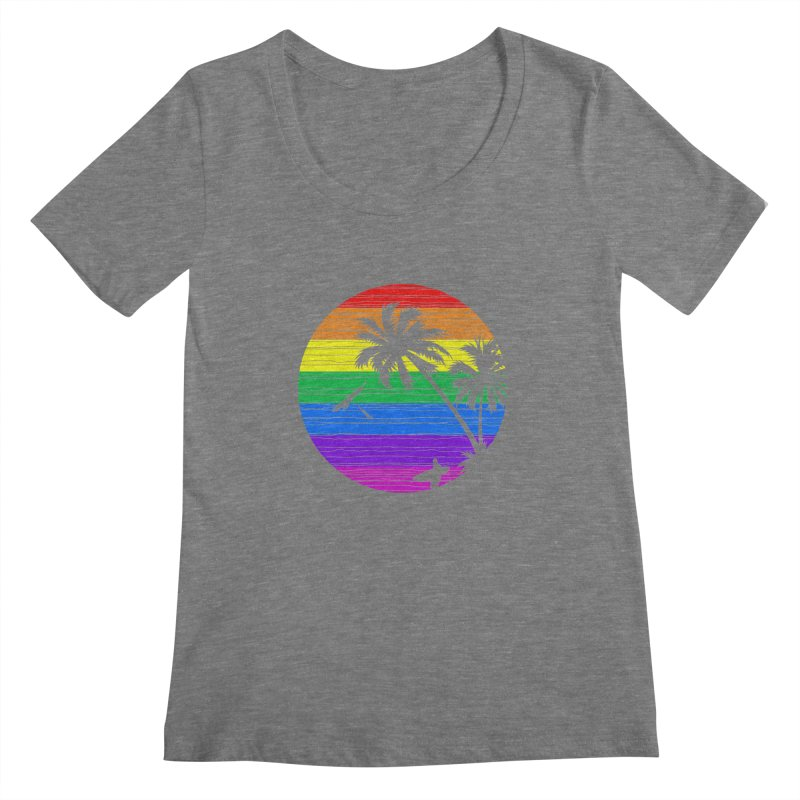 Rainbow Summer Women's Scoopneck by clingcling's Artist Shop