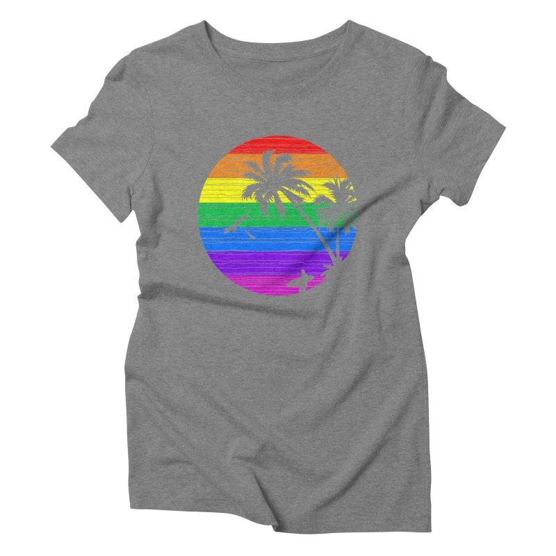 Rainbow Summer Women's Triblend T-shirt by clingcling's Artist Shop