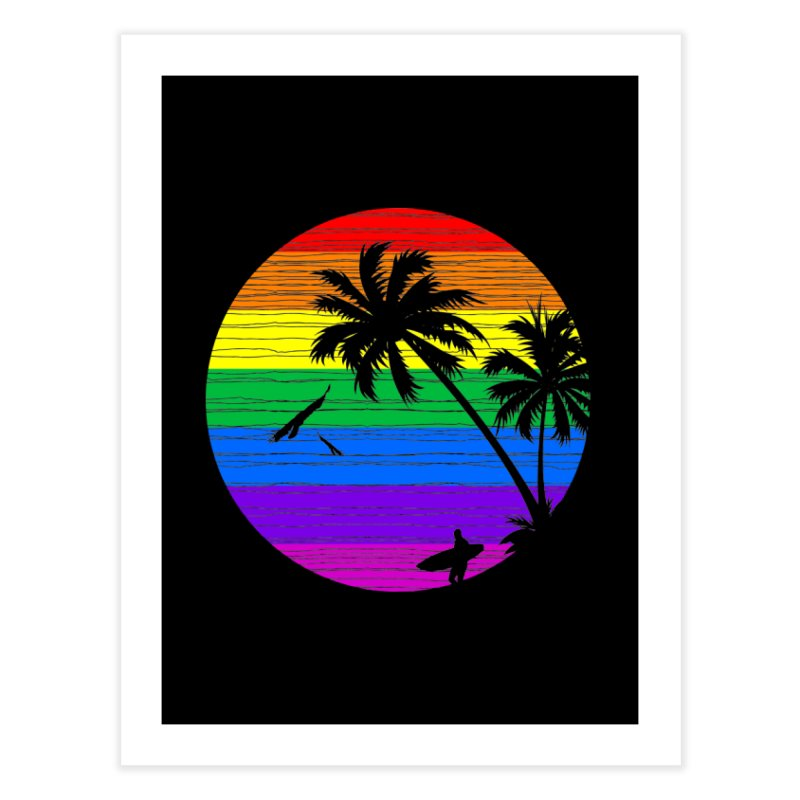 Rainbow Summer Home Fine Art Print by clingcling's Artist Shop