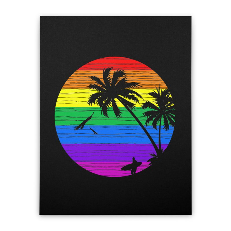 Rainbow Summer Home Stretched Canvas by clingcling's Artist Shop