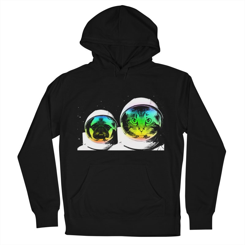Cute animals on space Men's Pullover Hoody by clingcling's Artist Shop