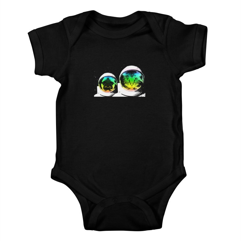 Cute animals on space Kids Baby Bodysuit by clingcling's Artist Shop