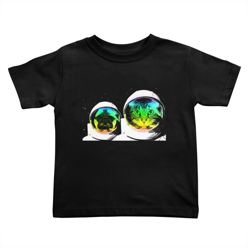 Cute animals on space Kids Toddler T-Shirt by clingcling's Artist Shop