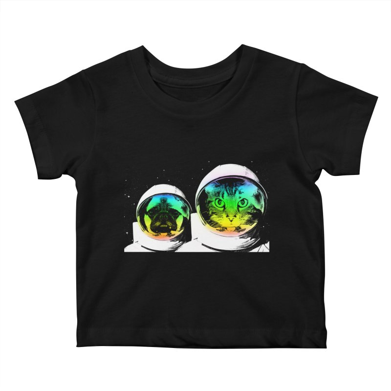 Cute animals on space Kids Baby T-Shirt by clingcling's Artist Shop