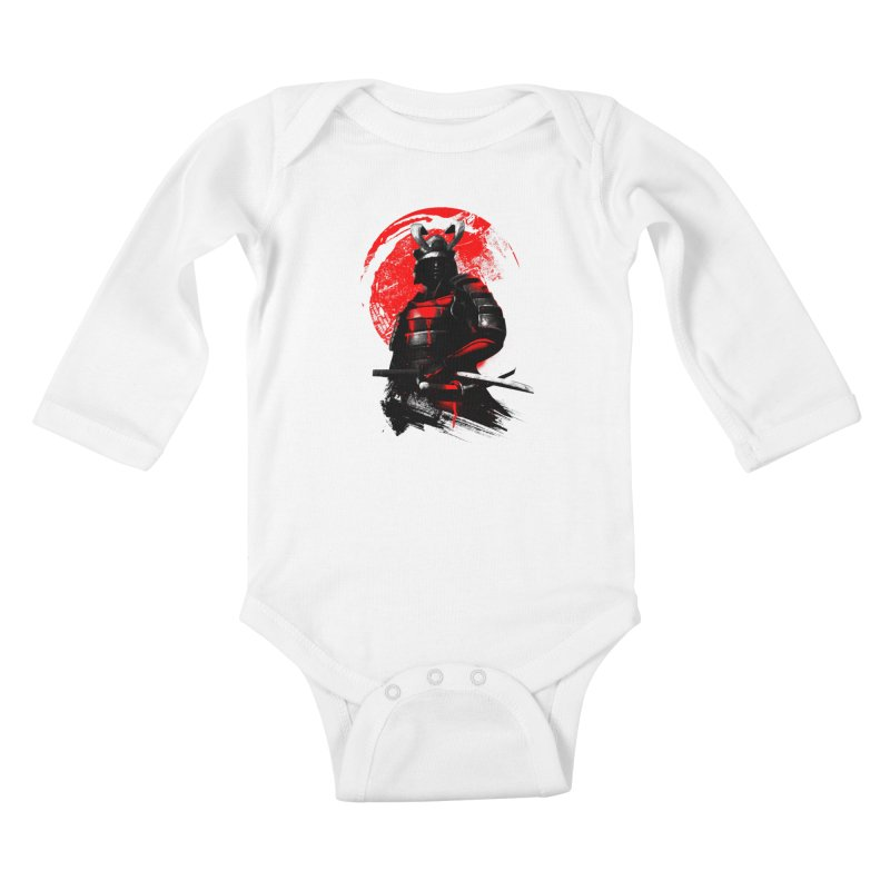 Samurai Kids Baby Longsleeve Bodysuit by clingcling's Artist Shop