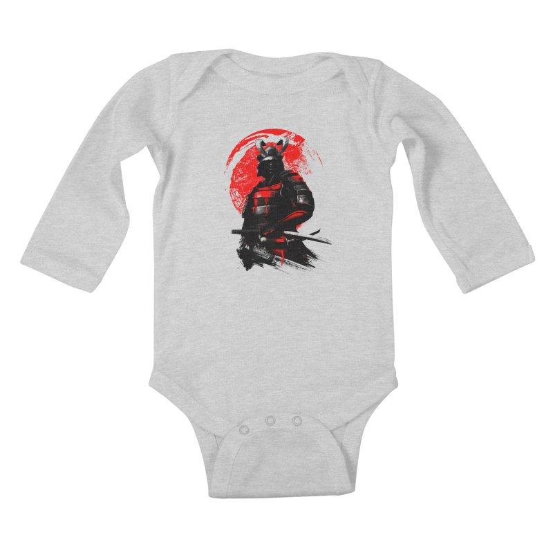 Samurai Kids Baby Longsleeve Bodysuit by clingcling's Artist Shop