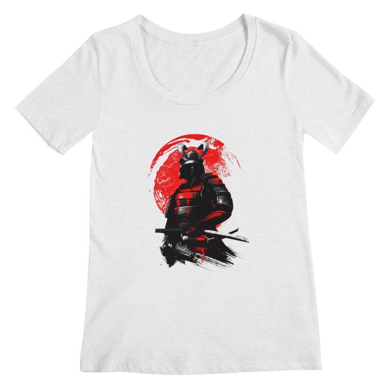 Samurai Women's Scoopneck by clingcling's Artist Shop