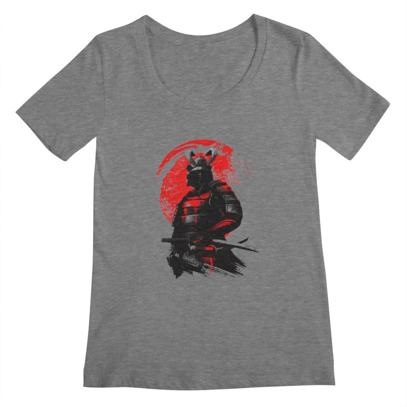 Samurai Women's Scoopneck by clingcling's Artist Shop