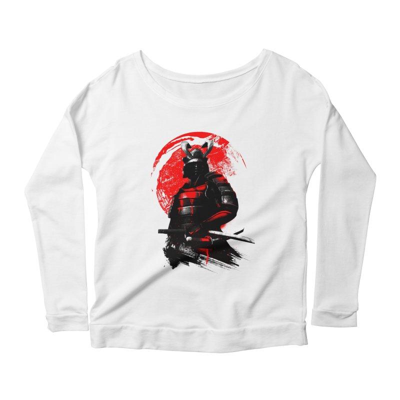 Samurai Women's Longsleeve Scoopneck  by clingcling's Artist Shop