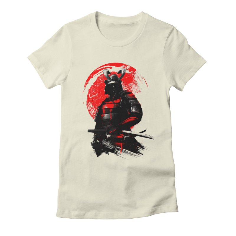 Samurai Women's Fitted T-Shirt by clingcling's Artist Shop