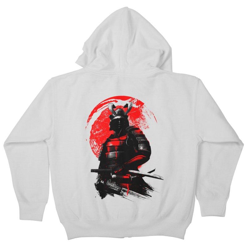 Samurai Kids Zip-Up Hoody by clingcling's Artist Shop