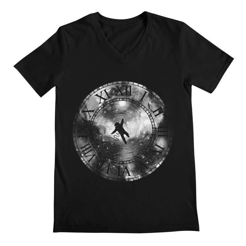 Space Time Men's V-Neck by clingcling's Artist Shop