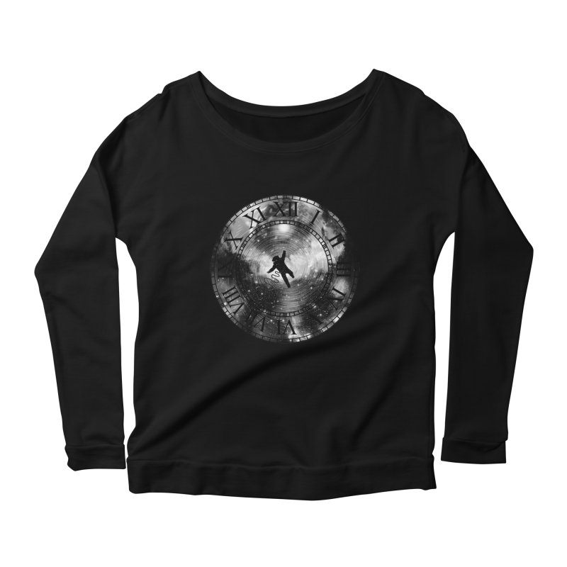 Space Time Women's Longsleeve Scoopneck  by clingcling's Artist Shop