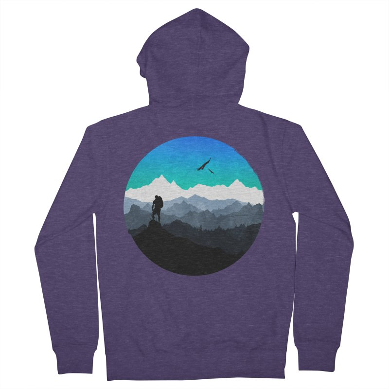 Top of the world Men's Zip-Up Hoody by clingcling's Artist Shop