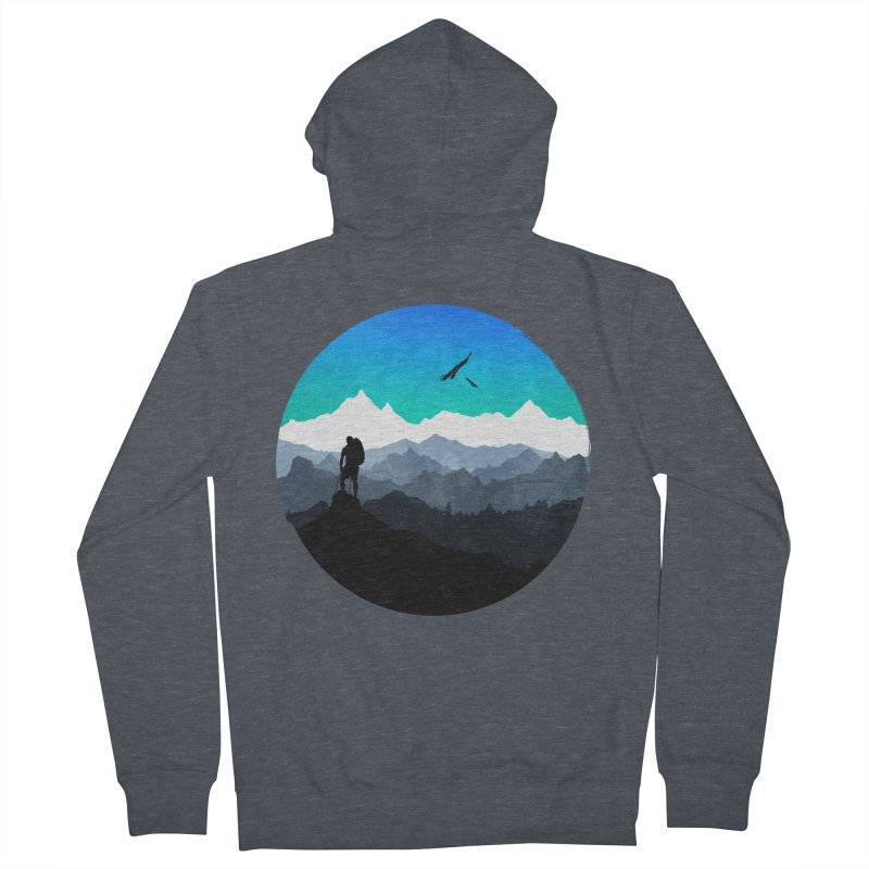 Top of the world Women's Zip-Up Hoody by clingcling's Artist Shop