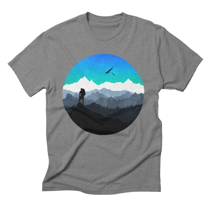 Top of the world Men's Triblend T-Shirt by clingcling's Artist Shop