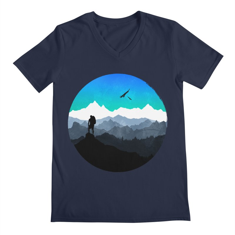 Top of the world Men's V-Neck by clingcling's Artist Shop