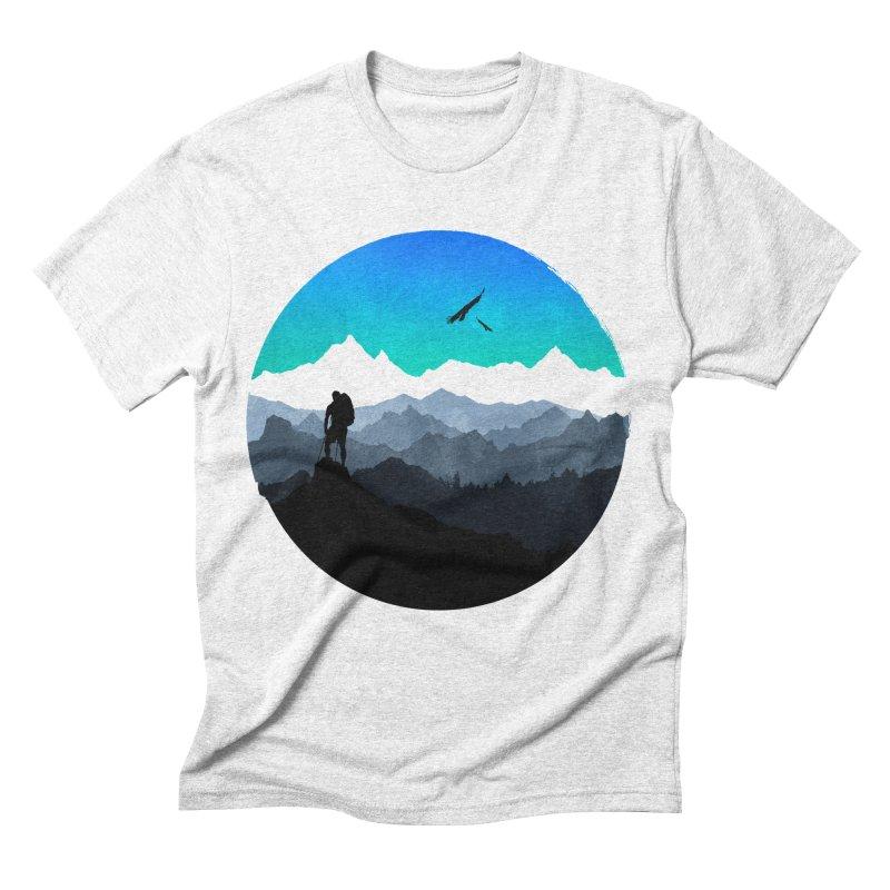 Top of the world Men's Triblend T-shirt by clingcling's Artist Shop