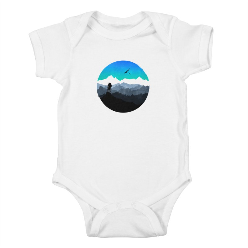 Top of the world Kids Baby Bodysuit by clingcling's Artist Shop