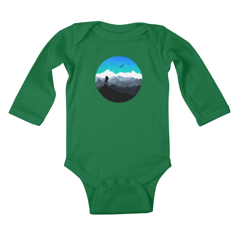 Top of the world Kids Baby Longsleeve Bodysuit by clingcling's Artist Shop