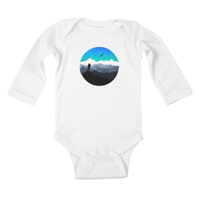 Top of the world Kids Baby Longsleeve Bodysuit by clingcling's Artist Shop