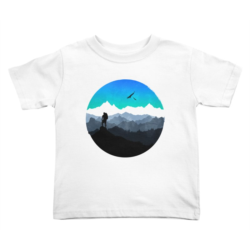 Top of the world Kids Toddler T-Shirt by clingcling's Artist Shop