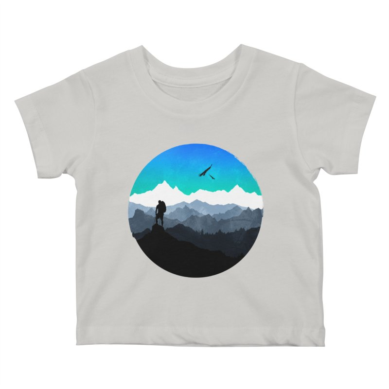 Top of the world Kids Baby T-Shirt by clingcling's Artist Shop