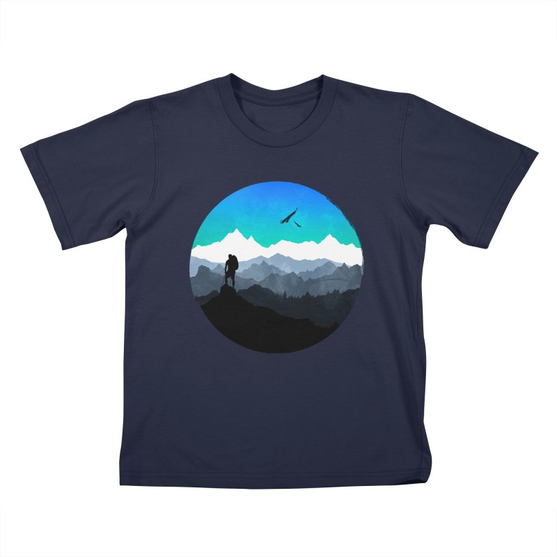 Top of the world Kids T-Shirt by clingcling's Artist Shop