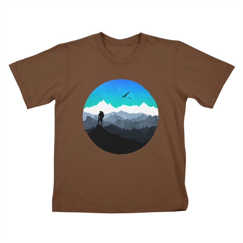 Top of the world Kids T-Shirt by clingcling's Artist Shop