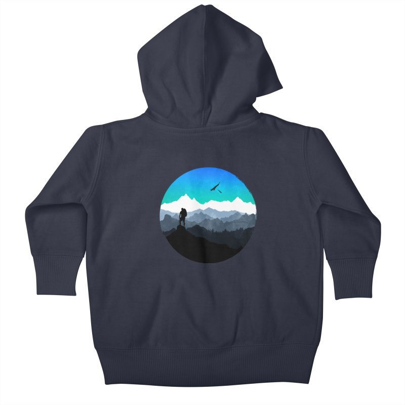 Top of the world Kids Baby Zip-Up Hoody by clingcling's Artist Shop
