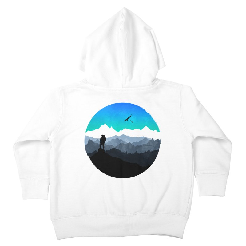 Top of the world Kids Toddler Zip-Up Hoody by clingcling's Artist Shop