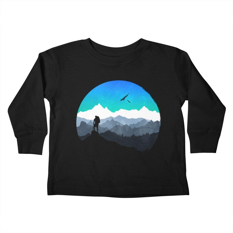 Top of the world Kids Toddler Longsleeve T-Shirt by clingcling's Artist Shop