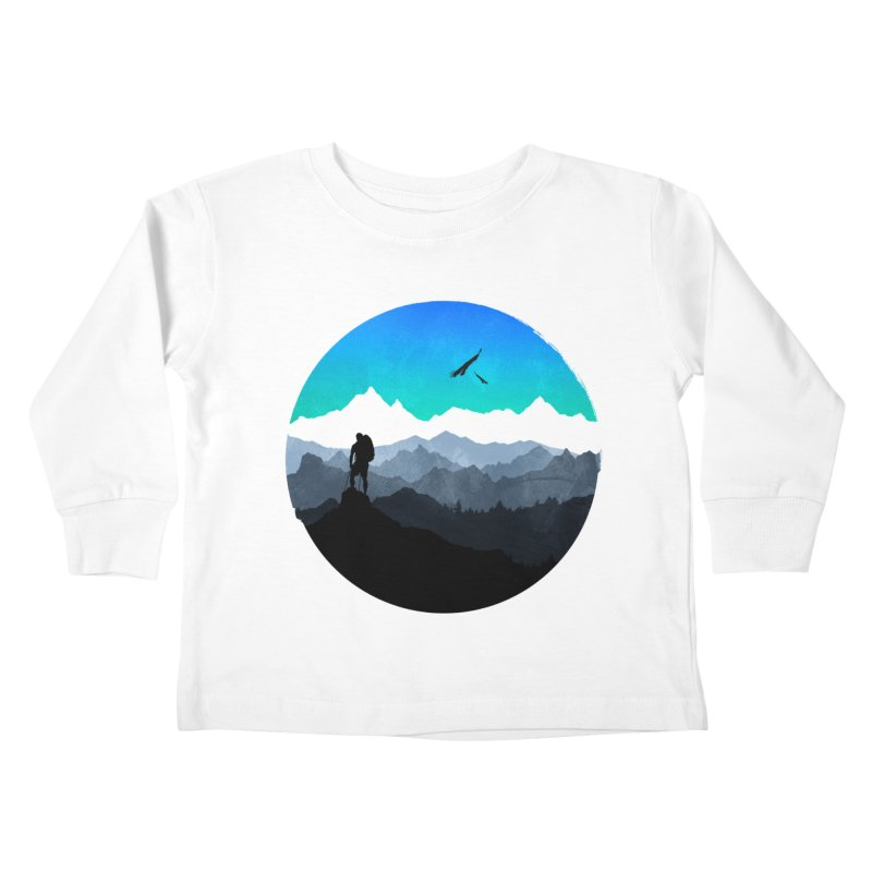 Top of the world Kids Toddler Longsleeve T-Shirt by clingcling's Artist Shop