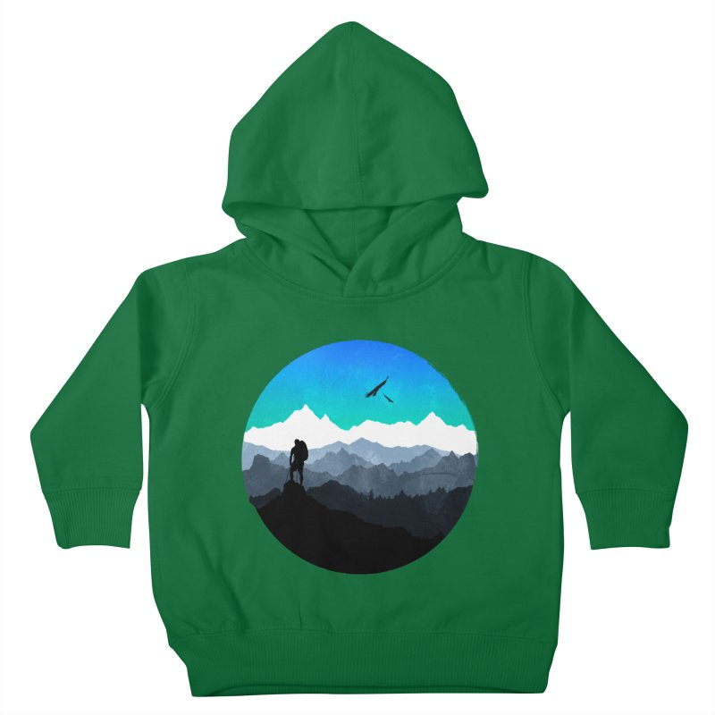 Top of the world Kids Toddler Pullover Hoody by clingcling's Artist Shop