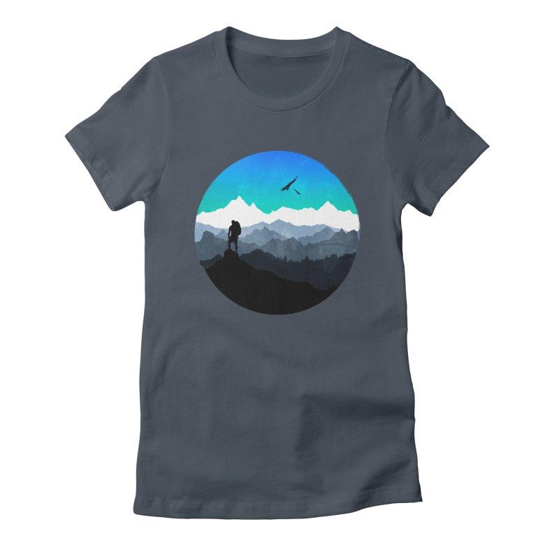 Top of the world Women's T-Shirt by clingcling's Artist Shop