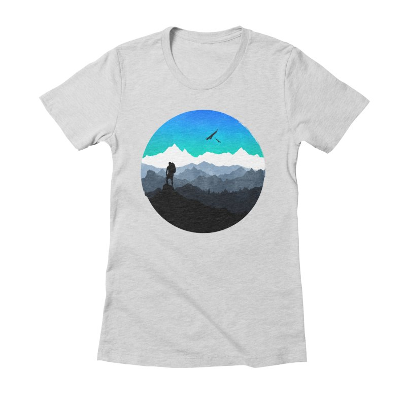 Top of the world Women's Fitted T-Shirt by clingcling's Artist Shop