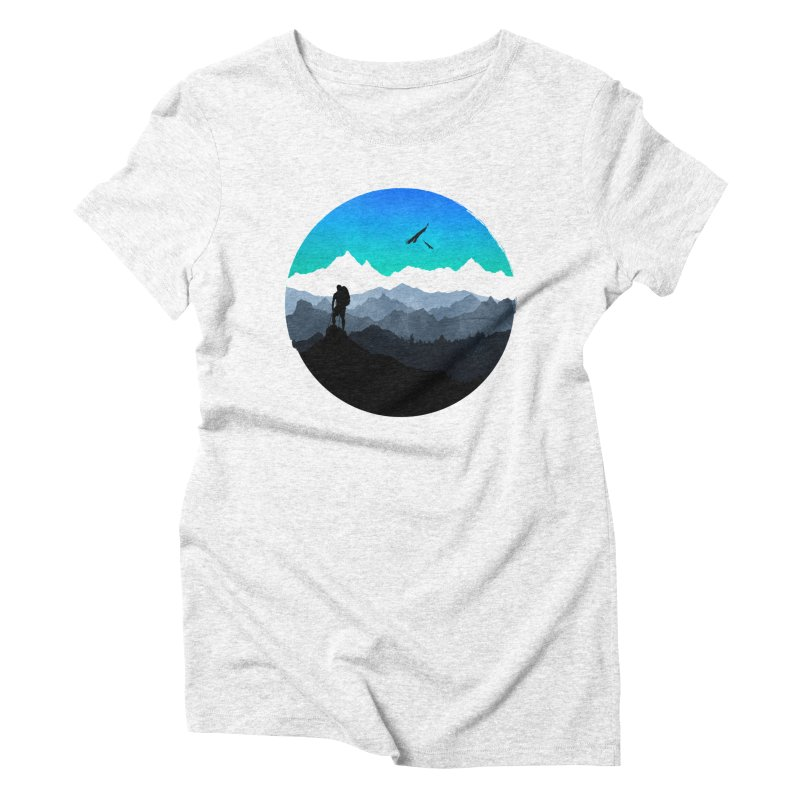Top of the world Women's Triblend T-shirt by clingcling's Artist Shop