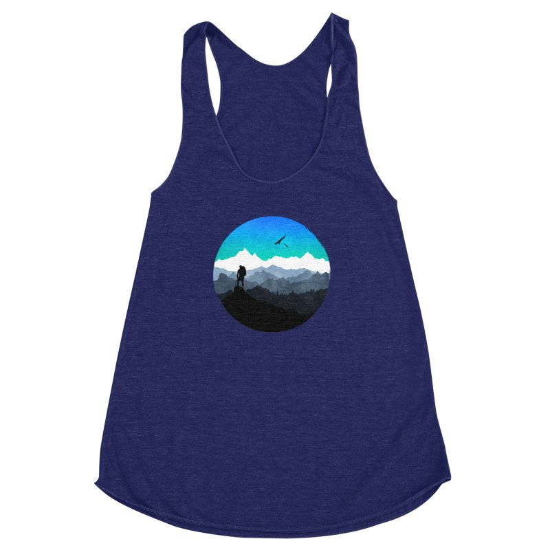 Top of the world Women's Racerback Triblend Tank by clingcling's Artist Shop