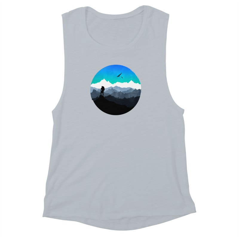 Top of the world Women's Muscle Tank by clingcling's Artist Shop