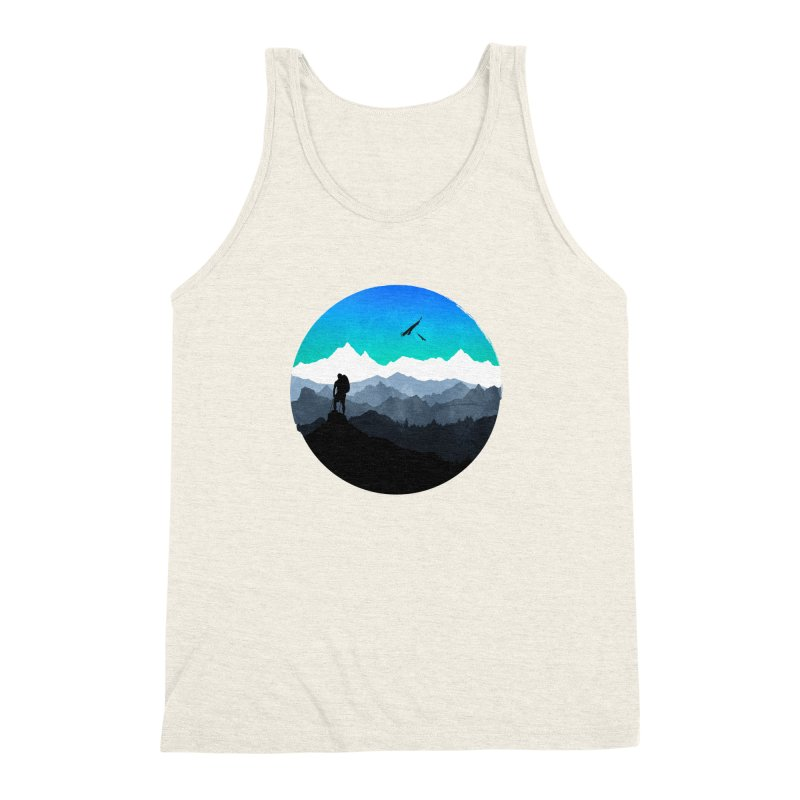 Top of the world Men's Triblend Tank by clingcling's Artist Shop