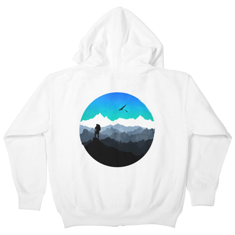 Top of the world Kids Zip-Up Hoody by clingcling's Artist Shop