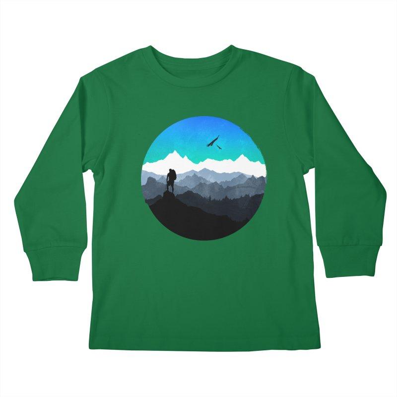 Top of the world Kids Longsleeve T-Shirt by clingcling's Artist Shop