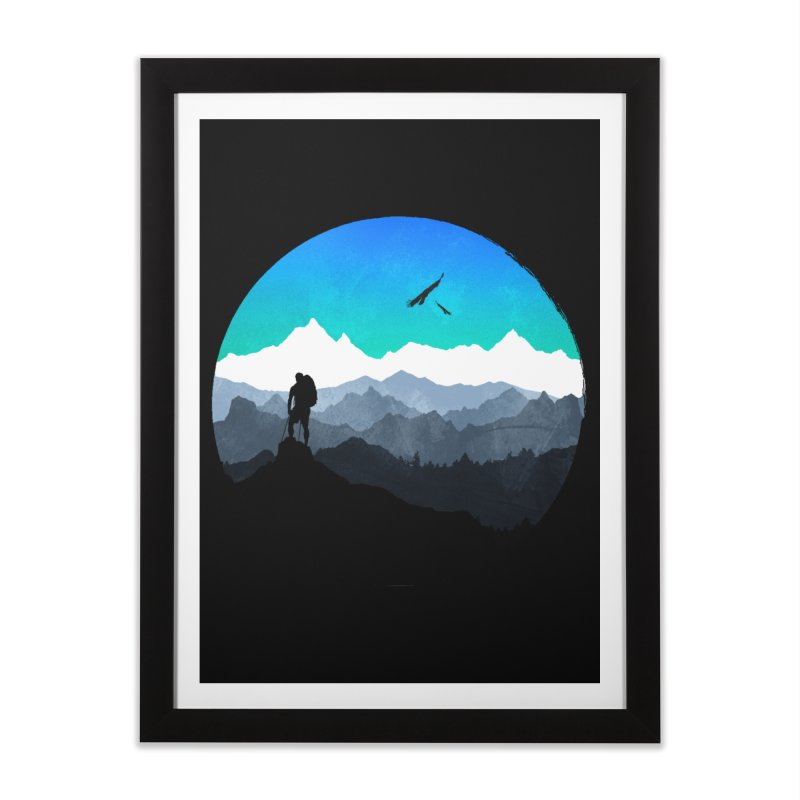 Top of the world Home Framed Fine Art Print by clingcling's Artist Shop