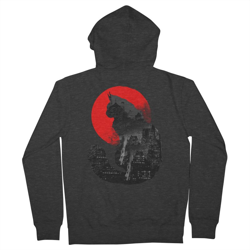 Urban Cat Men's Zip-Up Hoody by clingcling's Artist Shop