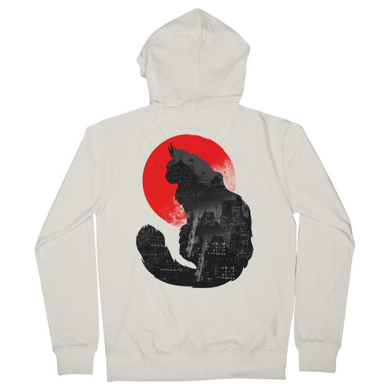 Urban Cat Men's Zip-Up Hoody by clingcling's Artist Shop
