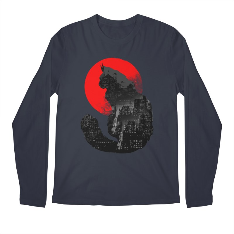 Urban Cat Men's Longsleeve T-Shirt by clingcling's Artist Shop