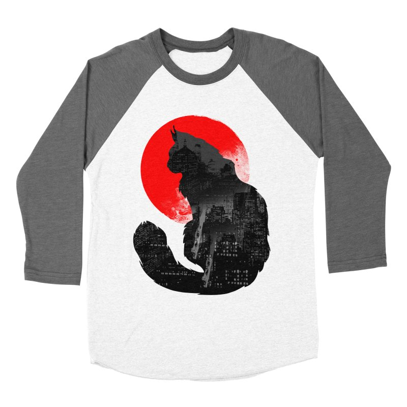 Urban Cat Women's Baseball Triblend T-Shirt by clingcling's Artist Shop