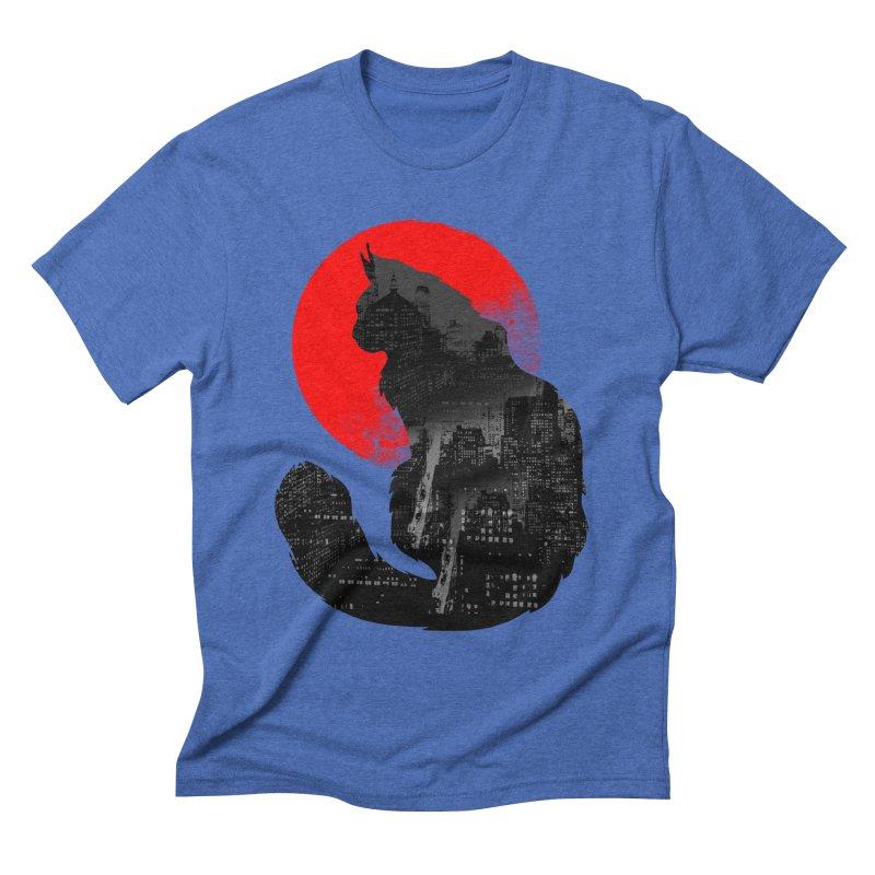 Urban Cat Men's Triblend T-shirt by clingcling's Artist Shop