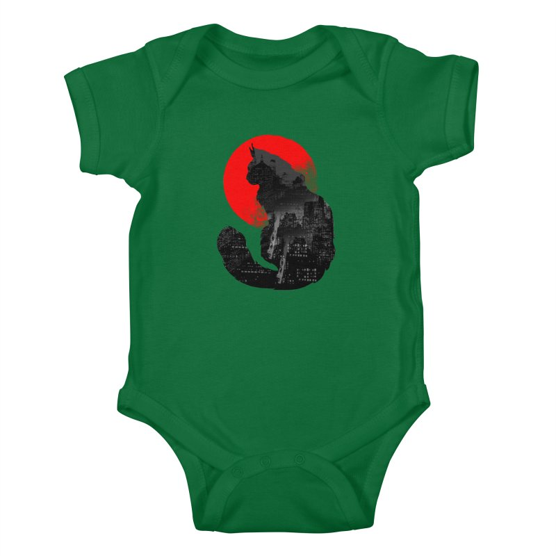 Urban Cat Kids Baby Bodysuit by clingcling's Artist Shop
